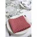 """""""Maillane rouge"""" 6 serviettes de table provençales 50x50cm tissu coton Valdrôme"""