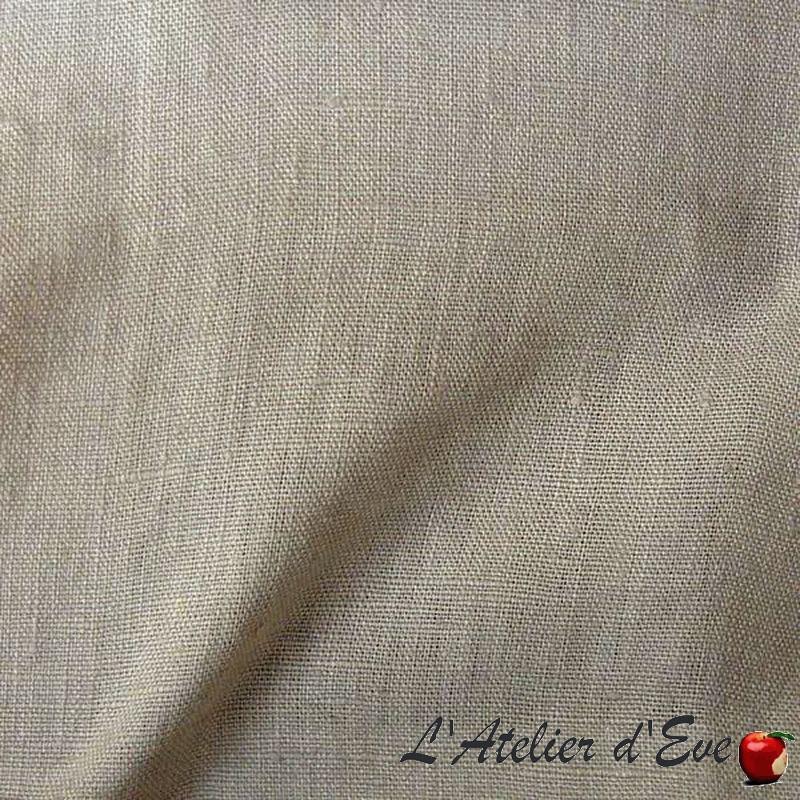 1529891 perle Lin lavé - Tissu ameublement 100% lin uni