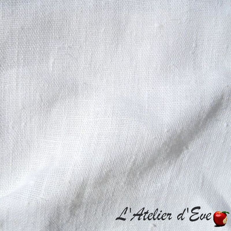 Lin lavé blanc- Achat rouleau tissu lin en gros de Thevenon Paris