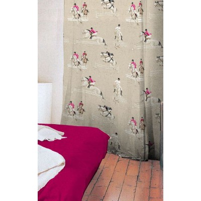 At the Gallop curtain has grommets loan ask raspberry background cotton roller curtain