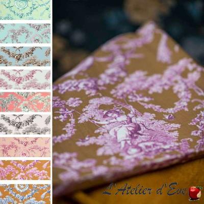 Ludivine (14 coloris) Tissu ameublement toile de jouy grande largeur Thevenon
