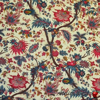 """""""Bangalore"""" multicolore Toile de jouy coton Patrimoine Casal"""
