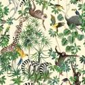 """""""La jungle des animaux"""" Nappe enduite Made in France Thevenon"""