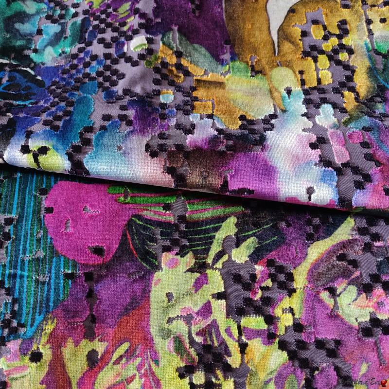 """""""Marsa"""" multicolore Tissu jacquard velours Casal"""