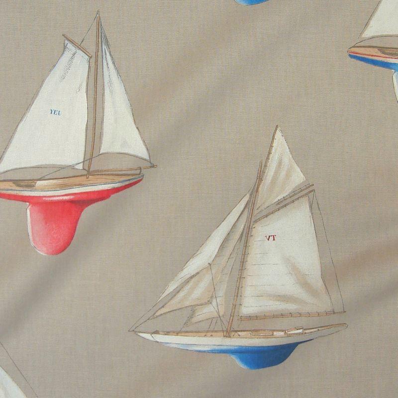 Mon beau bateau: tissu grande largeur thème mer pour vos fauteuils