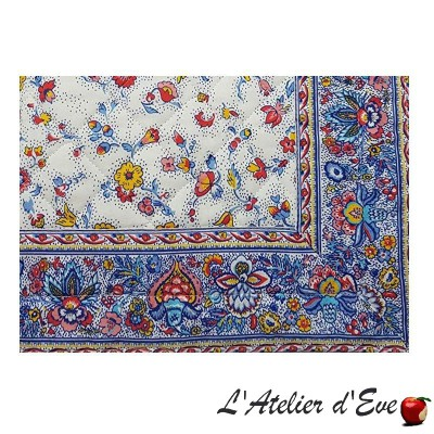 """Yellow """"Fleurs des champs"""" Provencal placemat cotton fabric Valdrôme Made in France"""