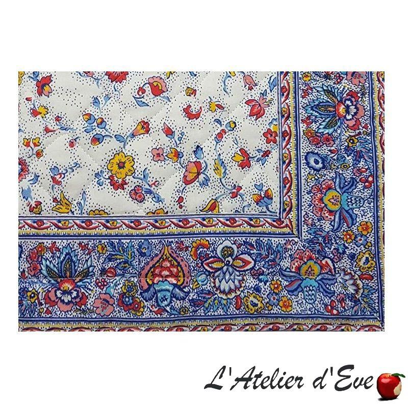 """""""Fleurs des champs"""" multicolore Set de table provençal tissu coton Valdrôme Made in France"""
