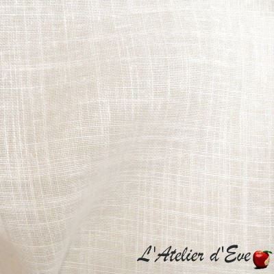 """""""Etamine"""" crème Coupon 170cm x300cm Voilage aspect lin Thevenon"""