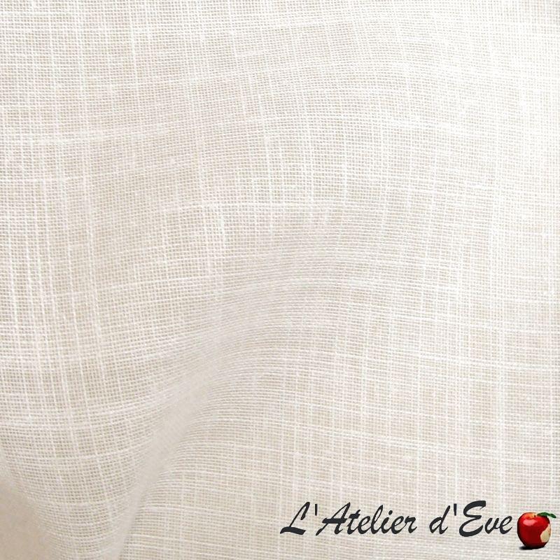 Etamine 1957111 crème voilage aspect lin sur mesure Thevenon