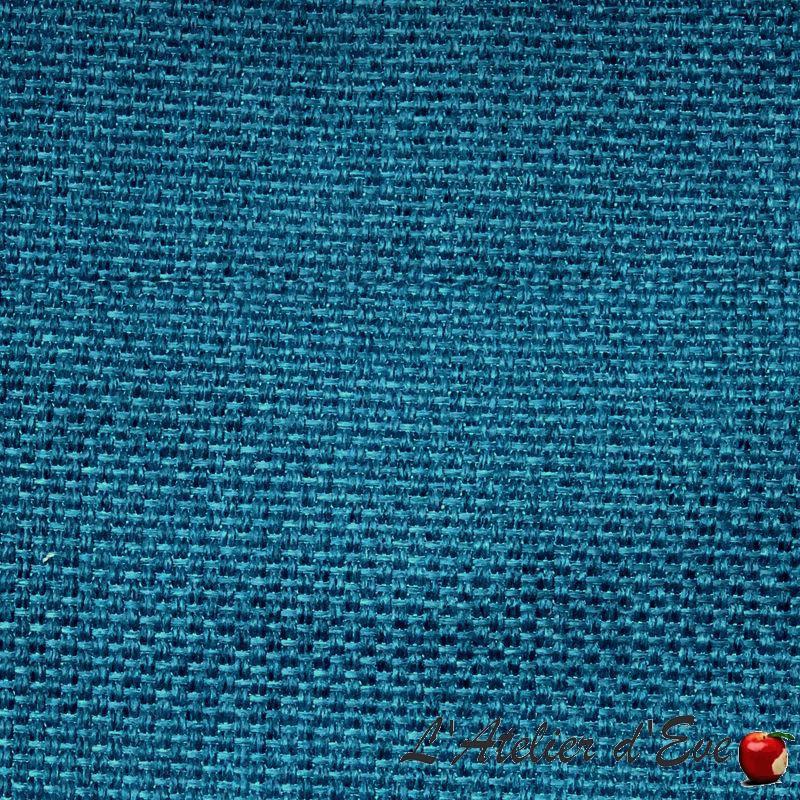 """""""Bellini"""" bleu des îles Tissu ameublement armuré Thevenon"""