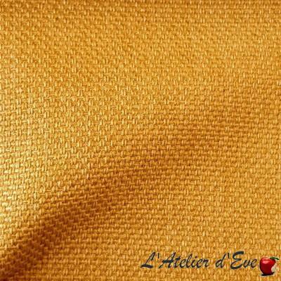 """Bellini"" curry Coupon 145 x 200cm tissu ameublement tissé Thevenon"