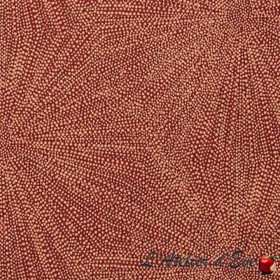 """""""Dent de lion """" rouge framboise Coupon 140x160cm tissu ameublement Thevenon"""