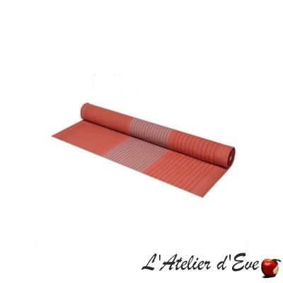 """""""Sauvelade"""" Brick Basque organic cotton canvas Made in France L.160cm Artiga"""