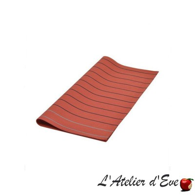 """Sauvelade"" brick Basque cotton canvas towel Made in France 50x50cm Artiga"