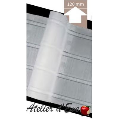 Gathering tape, ruflette 70mm white 19 / AB2