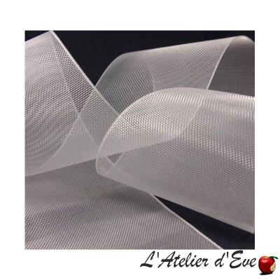 Renfort transparent 100mm pour tête de rideau