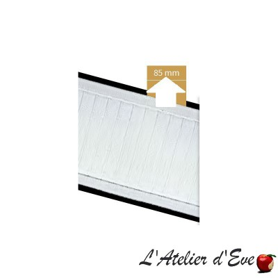 Ruban cartouchière 85mm blanc 7140