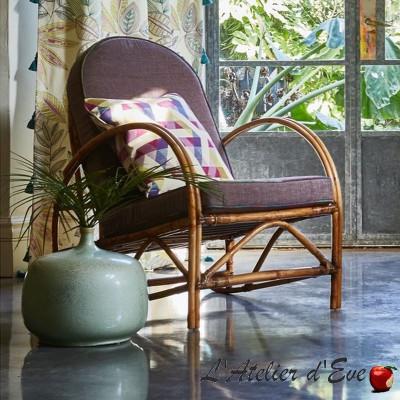"""Kuba"" Tissu ameublement brodé Bali Prestigious Textiles"