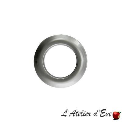 Blister 8 oeillets Clip dark silver Ø 44mm 548501M-C24