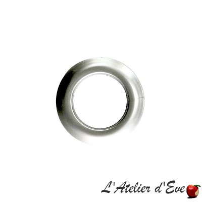 Blister 8 oeillets Clip light silver Ø 44mm 548501M-C23