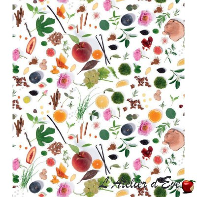 """""""Palmy"""" coated Thevenon floral fabric"""