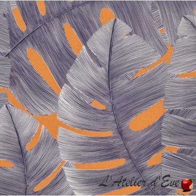"""Amanda"" coated Flower fabric Thevenon"