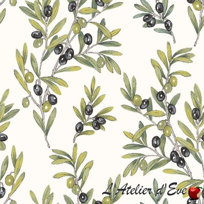 """Olives"" Tissu enduit Valdrôme Fabrication française"