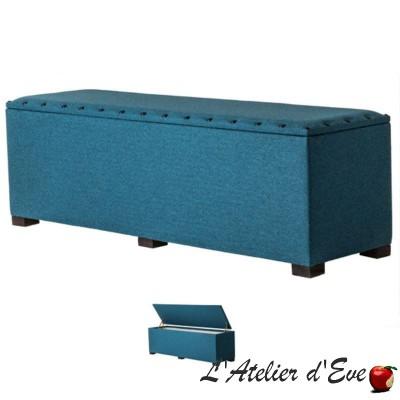 Bout de lit coffre réalisable dans tous les tissus Thevenon