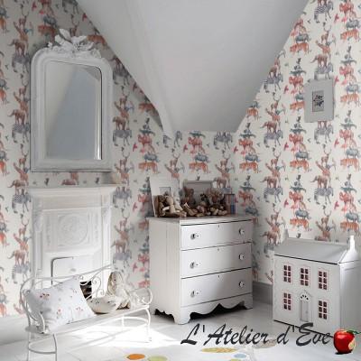 """Papier peint intissé pour enfant """"Animal Tower"""" Prestigious Textiles"""
