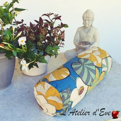 """""""Bolster"""" Idris moutarde Coussin de yoga Made in France L'Atelier d'Eve"""