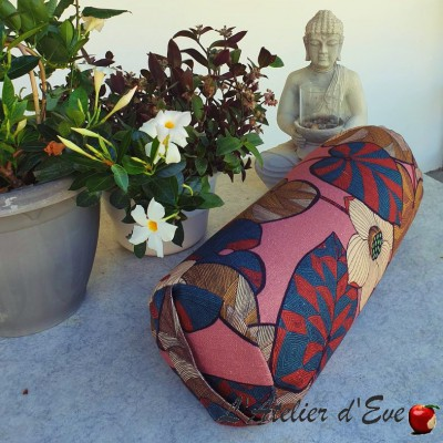 """""""Bolster"""" Idris lin rose Coussin de yoga Made in France L'Atelier d'Eve"""