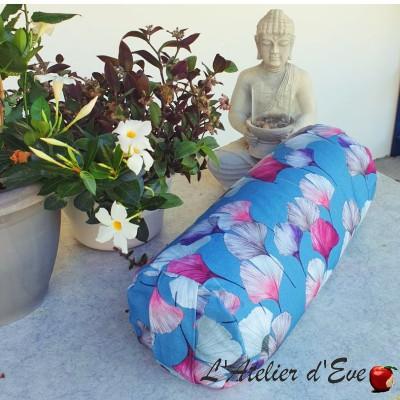 """""""Bolster"""" Céline bleu zinc Coussin de yoga Made in France L'Atelier d'Eve"""