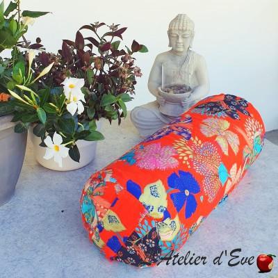 """Bolster"" Kimono flowers Coussin de yoga Made in France L'Atelier d'Eve"