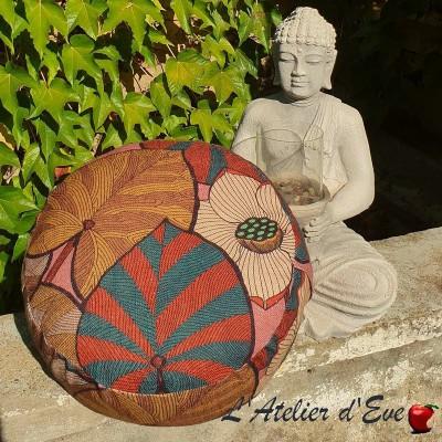 """""""Zafu"""" Idris lin rose Coussin de méditation Made in France L'Atelier d'Eve"""