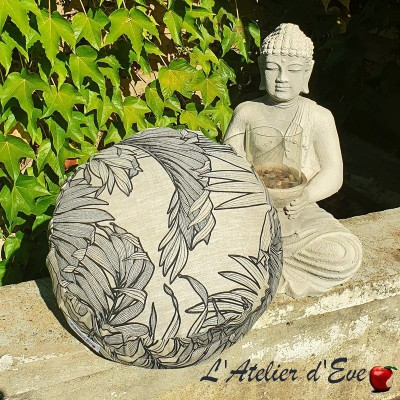 """""""Zafu"""" Coco linen Meditation cushion Made in France L'Atelier d'eve"""