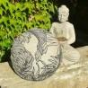 Zafu coco lin vue dessous Coussin de méditation Made in France L'Atelier d'Eve