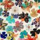 """Rideau à œillets """"Kimono Flowers"""" crème Thevenon fabriqué en France"""