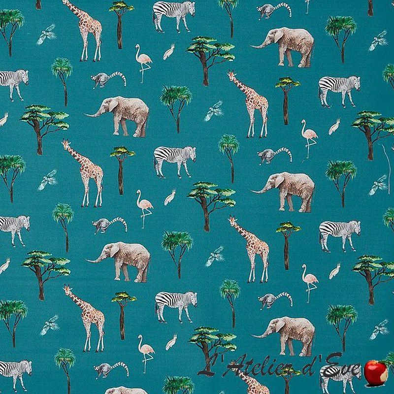 """""""On Safari"""" reef - Tissu pour enfants Collection Big Adventure Prestigious Textiles"""