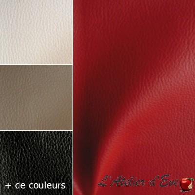 Dallas simili cuir tissu ameublement skaï uni souple aspect cuir thevenon