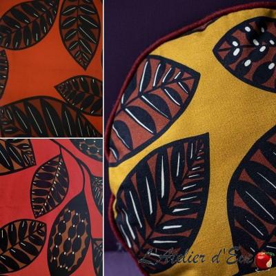 "Tissu ameublement 100% coton ""SIRA"" 3 coloris Thevenon"