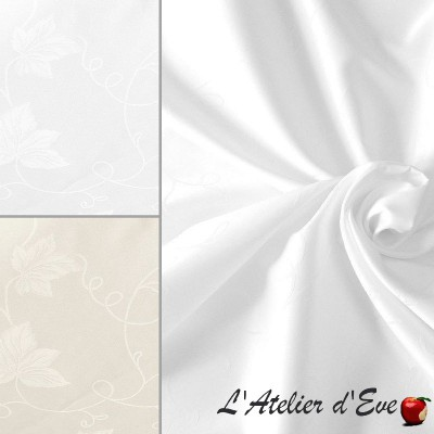 """""""Idris"""" Large-width floral cotton tablecloth fabric, Thevenon furnishings"""