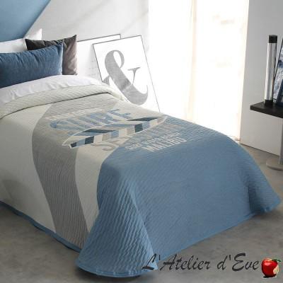 """""""Balvin"""" Couvre-lit bleu polycoton lavable Reig Marti C.03"""