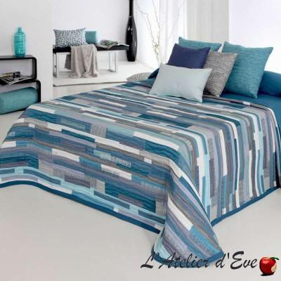 """Mate"" Couvre-lit patchwork bleu polyester lavable Reig Marti C.03"