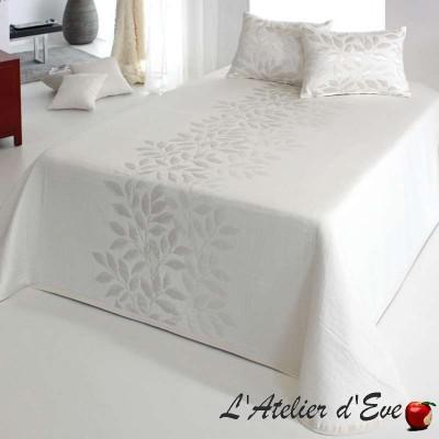 """""""Perline"""" Couvre-lit écru ton naturel polyester lavable Reig Marti C.00"""