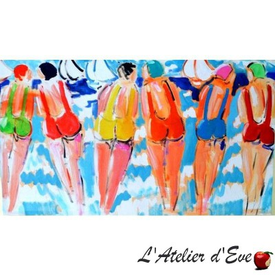 """""""The Sisters B"""" Painting 74x130cm Thevenon"""
