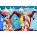 """""""St Martin Beach"""" table 94x130cm Thévenon"""