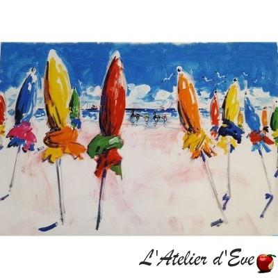 """Water city"" Painting 90x130cm Thevenon"