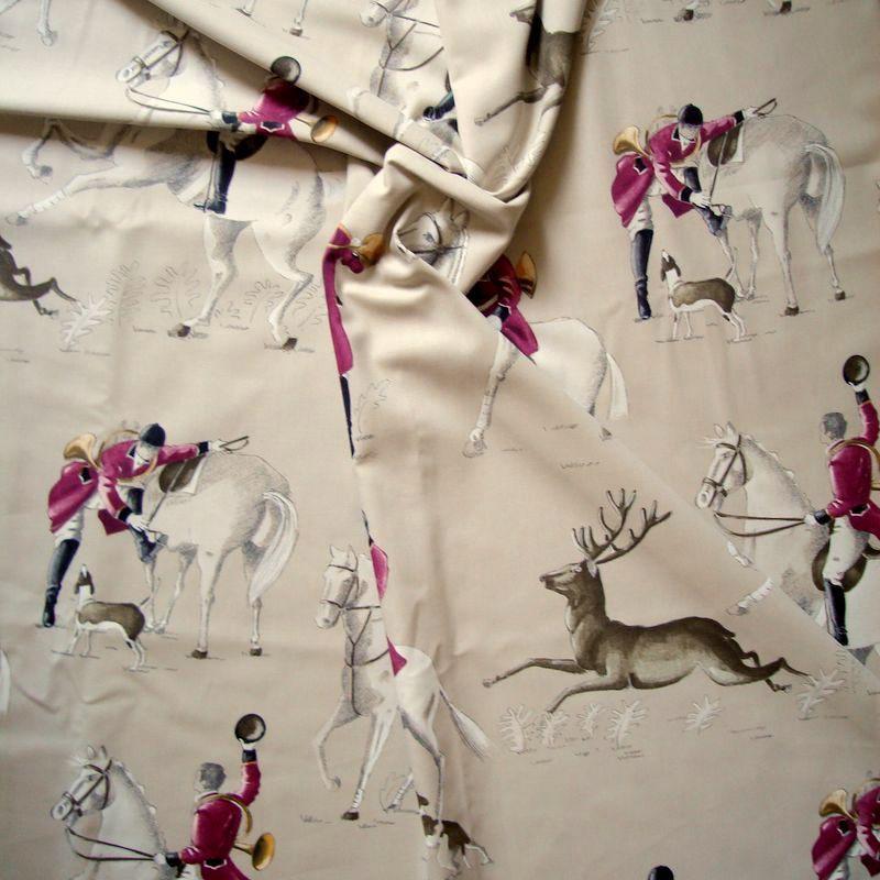 A Courre: Tissu ameublement grande largeur 100% coton de Thevenon