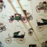 Les carrosses : Tissu ameublement 100% coton motif carosses de Thevenon