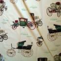 Les carrosses Rideau a oeillets pret a poser motif carrosses Thevenon Le Rideau